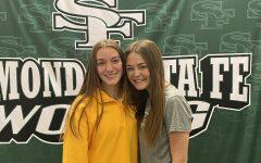 Senior girls L to R: Megan Wilson and Grace Hepner