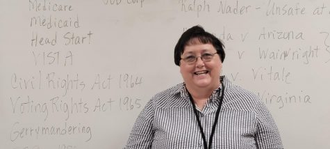 Image of Mrs. Kathy Fine in her classroom