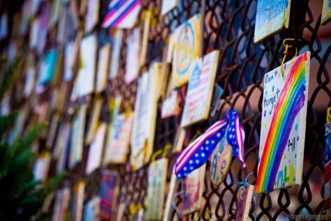 Tiles of America honor 9/11 victims in NYC.