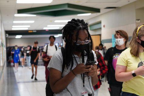 The first day of masks at Santa Fe.